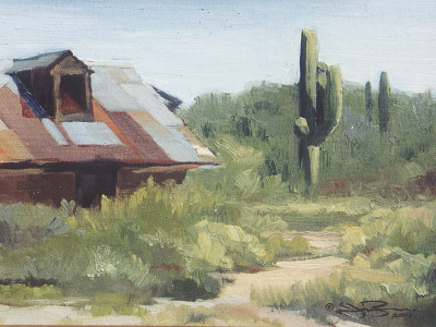 Hot Tin Roof 9X12 | oil on panel  |  SOLD