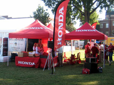 Honda event tents and flags.