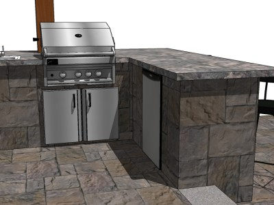 Outdoor Kitchen 3D model