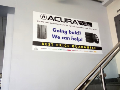 Vinyl wall poster for Acura Erin  Mills.