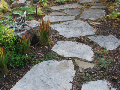 Natural Stone creates soft textures when used in any landscape project.