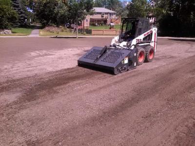 During - Lawn renovation (Woburn, MA)