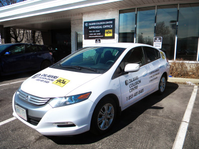 Honda Insight courtesy car graphics, Mississauga, Ontario