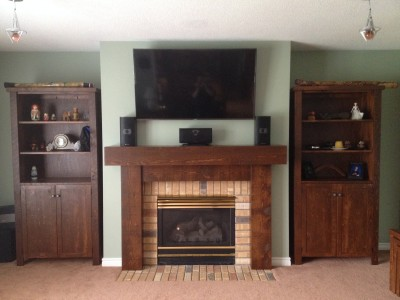 "Panasonic 50"" TV Mounted above a Fireplace"