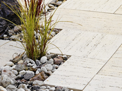 Soften patios with planting