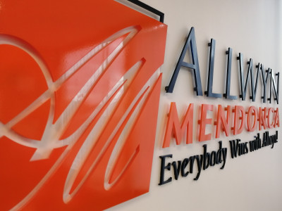 3 dimensional laser cut, acrylic reception sign, Mississauga, ON.