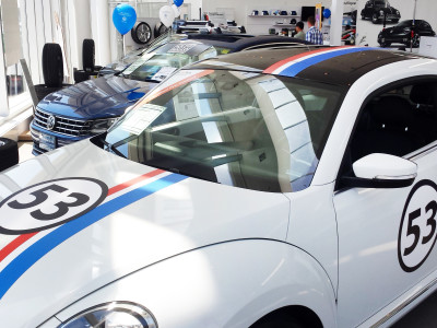 Herbie VW beetle graphics.
