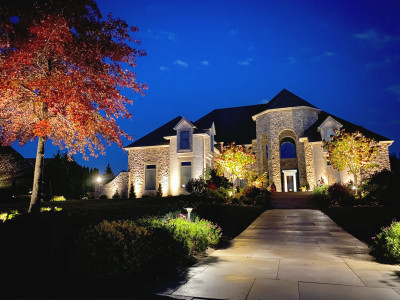 Outdoor Lighting for Security, Safety, and elegance. Highlight Architectural features or illuminate a walkway.