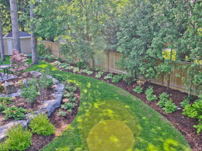 Spectacular plantings in this Oakville backyard.
