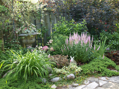 Classic perennial garden.
