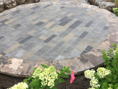 Front entrances are brought to life by using the right mix of products from Bestway Stone