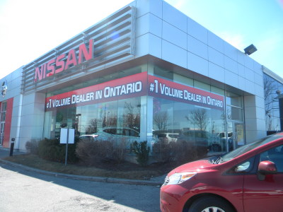 Dealership window graphics, Mississauga, Ontario.