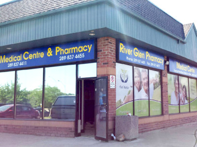 Pharmacy Window Light Box Graphics, Oakville, Ontario