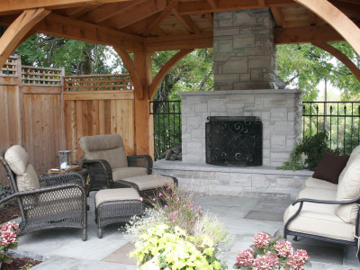 wiarton building stone wood burning fireplace
