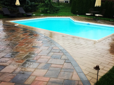 Social distance beside your own pool!