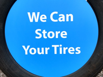 We can store your tires insert.