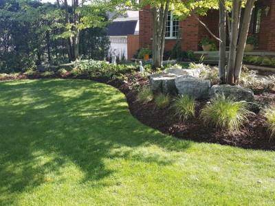 Garden renovation for a stony creek property.
