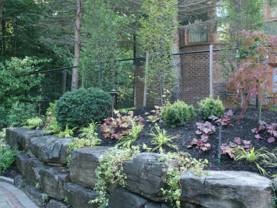 Perfect mix of plants and natural stone