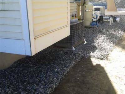 Completed - Crushed stone around pool equipment (Woburn, MA)