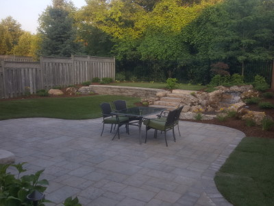 Techo Block Blue Patio in shale grey