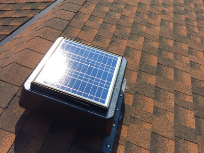 One of the only company's installing solar-powered roof vents.
