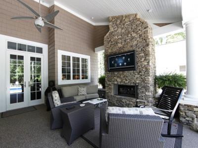 Control4 on an Outdoor Patio TV