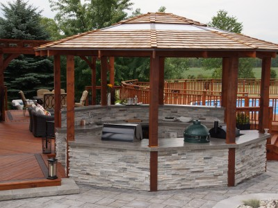 Cedar Gazebo, Outdoor Kitchen