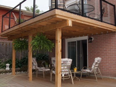 Cedar 2 Tier deck