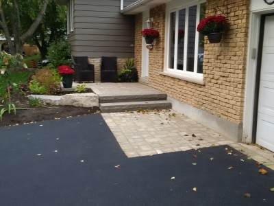 Entrance with some natural stone steps located in burlington