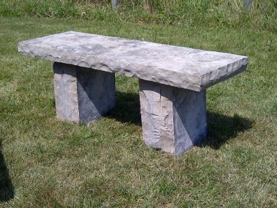Wiarton bench with large legs