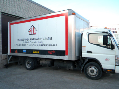 Delivery truck graphics, Mississauga, Ontario