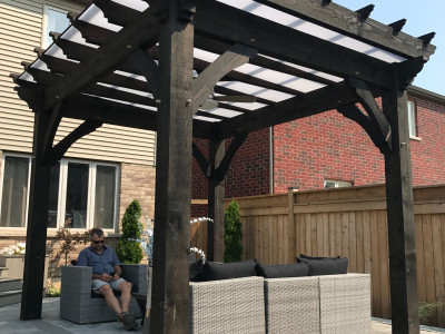 Black Ash Cutek stain makes this Pergola a show piece.