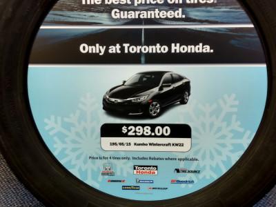 Toronto Honda tire inserts.