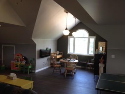 Interior finish of the loft
