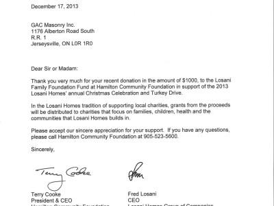 Hamilton Community Foundation (2013)