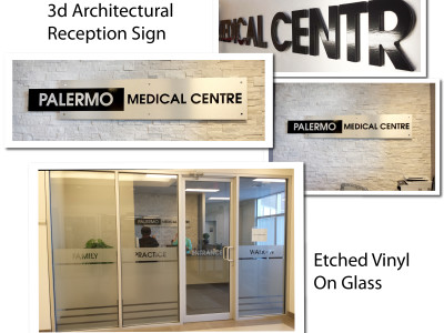 Etched window vinyl.