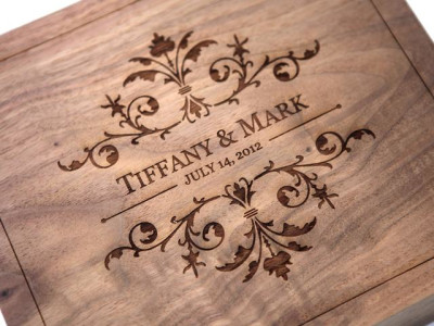 Engraved wedding gifts.
