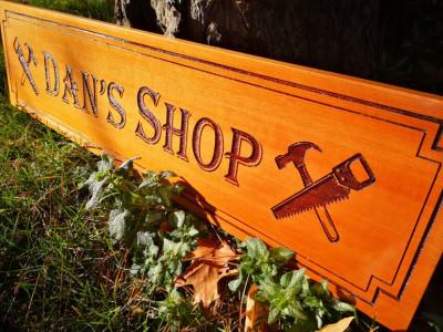 Personalized engraved wood board, clear cedar, Ontario Canada