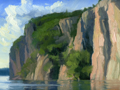 Bon Echo Rock 9X12 | oil on panel  |  SOLD