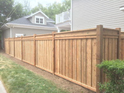 Pressure treated fencing featuring the I-beam top