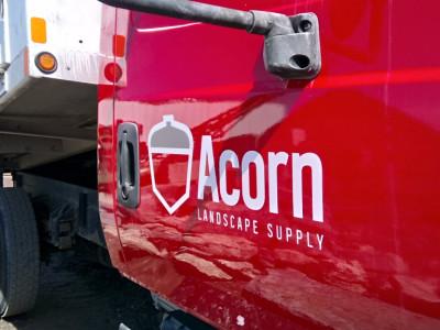 Semi truck door lettering.
