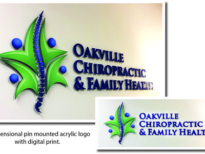 3D logo and lettering with digital print, Oakville, Ontario