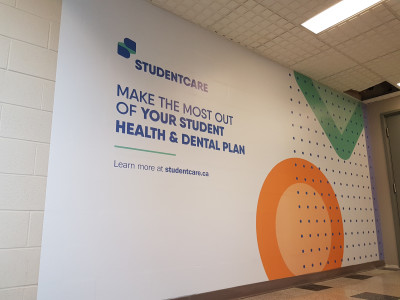 Mohawk College wall mural.