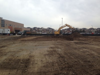 Excavation of Footings and foundations for School Addition