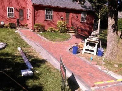 During - New walkway (Woburn, MA)