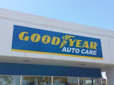 Goodyear tire exterior sign, Mississauga, Ontario