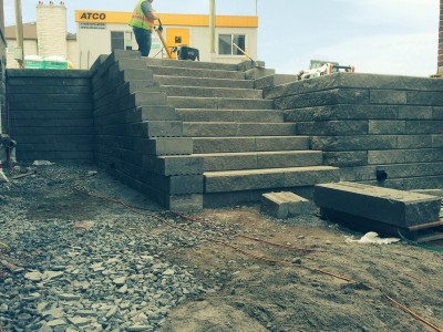 Nervous about your big block wall project call the experts at Lakeridge Contracting