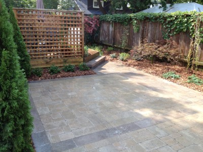 Unilock pavers highlight this space