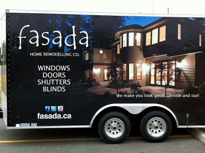 Trailer wrap for an Oakville window company.