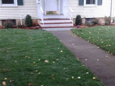 Completed - Grading and sod (Winchester, MA)
